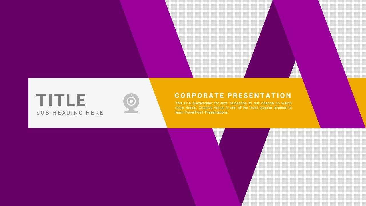 How to Design an Awesome Cover Slide for Business Presentation in Microsoft PowerPoint PPT  YouTube