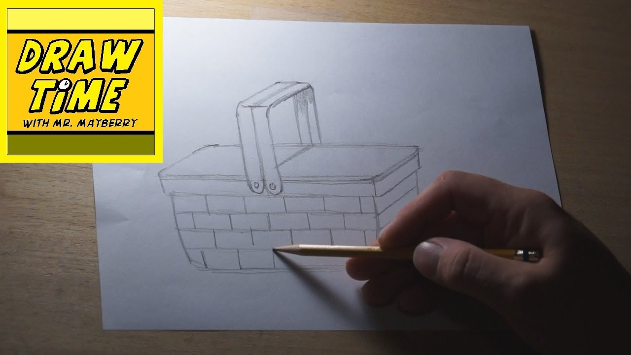 How to Draw a Picnic Basket - YouTube