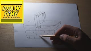 How to Draw a Picnic Basket