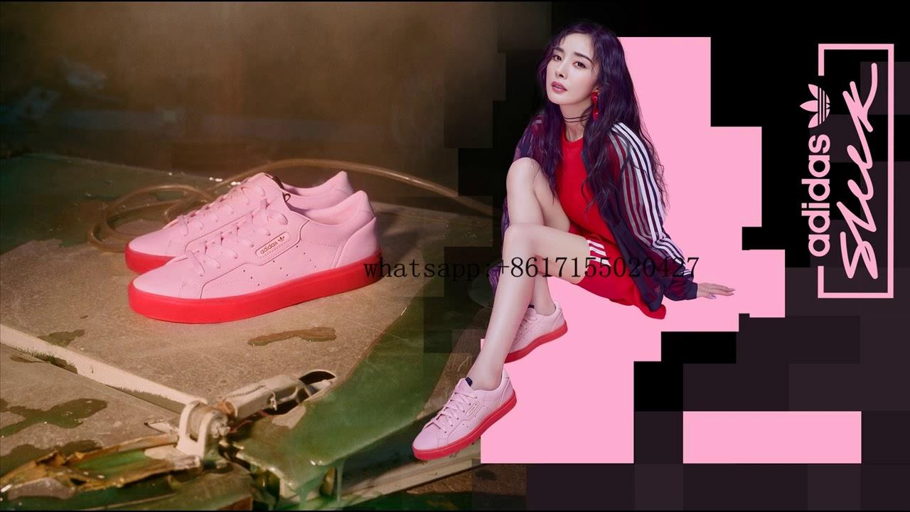 adidas Sleek W BD7475 DivaDivaRed - YouTube