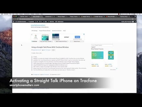 Activating a Straight Talk iPhone on Tracfone