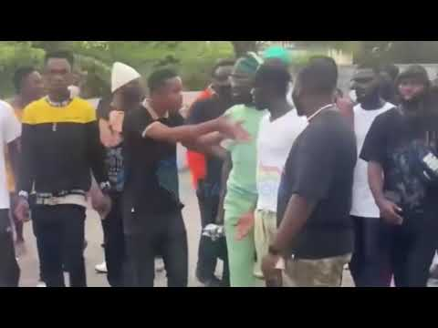 Football Fans Mob Black Sherif At Accra Sports Stadium Ahead Of His Performance For FA Cup Finals