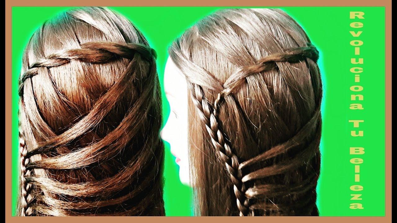 Trenza de cascada con cruzados moderna peinados de moda - Peinados de trenzas modernas ...