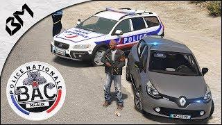 GTA 5 - LSPDFR - POLICE NATIONALE - Unité B.A.C - Trafic de drogue / GoFast - Patrouille 36