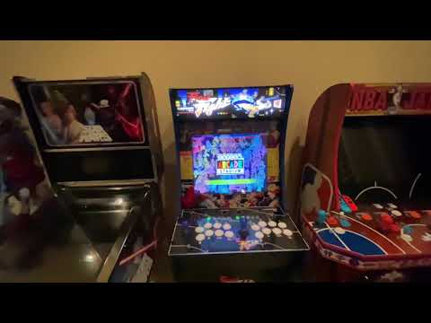 Complete Arcade1up Final fight Mod runs off a Nintendo Switch and with custom decals and lit marquee from Kelsalls Arcade