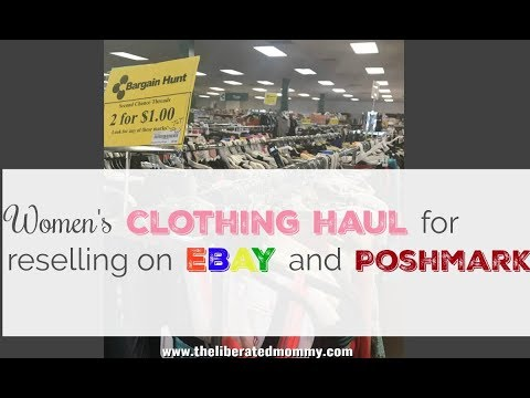 2/$1 Women's Clothing Haul for Reselling on Poshmark and Ebay As a Side Hustle
