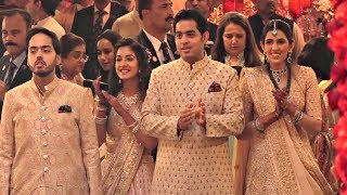Akash Ambani, Shloka Mehta, Anant Ambani, Radhika Merchant At Isha Ambani Wedding
