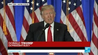 US - President-elect Donald Trump holds 1st press conference since election