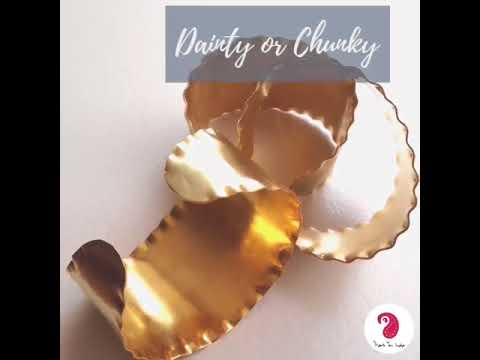 Dainty or Chunky?  - Thank You India Ethical Designer Fashion