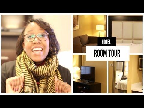 HOTEL ROOM TOUR | Hilton Hotel - Homewood Suites