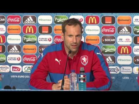 Petr Čech a Pavel Vrba před zápasem s Tureckem