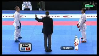 Final Cto. Europeo Absoluto Karate Kumite individual masculino -60Kg 12
