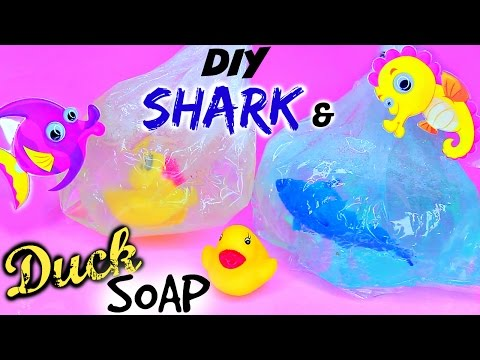 DIY Fish In A Bag Soap - DIY Shark & Duck Soap! Easy Soap Making How To For Beginners