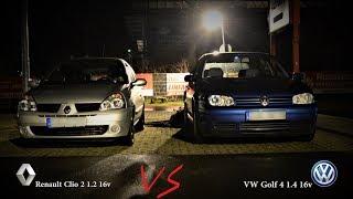Renault Clio 2 1.2 16v vs Vw Golf 4 1.4 16v - Slow Cars Race - Diecris987