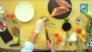 Азиатская кухня  Сашими из лакедры с роллом Моцарелла