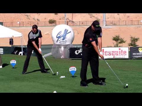 Scott Smith and George Slupski hitting side by side at World Finals
