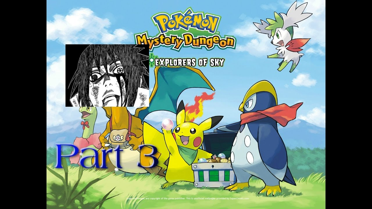 Pokemon Mystery Dungeon Explorers Of Sky Part 3 Sharingan Youtube