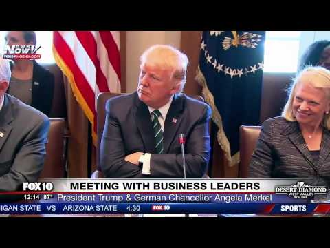 Thumbnail: FNN: President Trump And Chancellor Angela Merkel Meet with German Business Leaders at White House