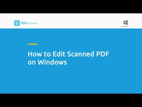 How to Edit Scanned PDF on Windows