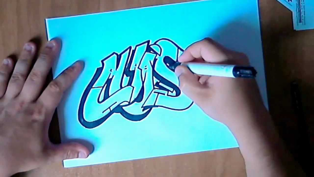Graffiti paso a paso Dibujando un graffiti parte,1[ By Hase flow extrem ] , YouTube