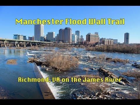 Manchester Flood Wall Trail In Richmond, VA. 3-18-18