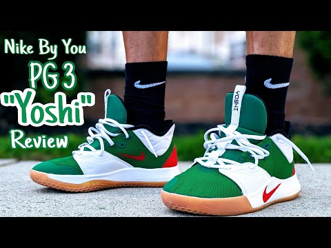 """nike-by-you-pg-3-""""yoshi""""-on-feet-review"""
