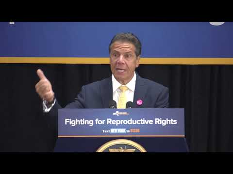 Gov. Andrew Cuomo attended a rally in New Hyde ark on Long Island after signing an executive order in Westchester Tuesday, July 10 directing state officials to protect women's access to contraception.