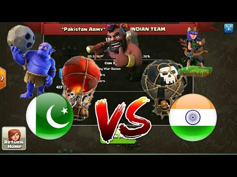 PAKISTAN VS INDIA WAR 50vs50 | CLASH OF CLANS (Awarah Clashers)