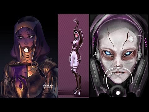 Mass Effect Quarians and what they really look like