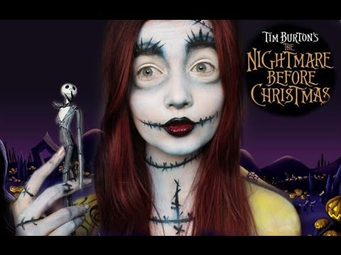 Christmas Halloween Makeup.Halloween Series Nightmare Before Christmas Sally Makeup