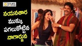 Nagarjuna Making Fun with Nayanthara on Movie Sets : Rare Video - Filmyfocus.com