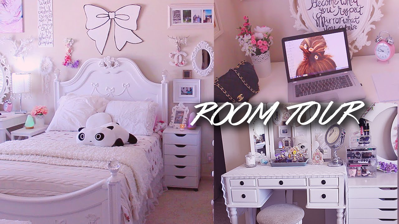 Shabby chic diy project ideassubscribe for weekly design. Room Tour Lilisimply All White Shabby Chic Girly Bedroom Youtube