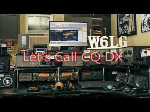 Ham Radio Basics--W6LG Calls CQ DX and a Very Good Friend Answers, DJ4OA