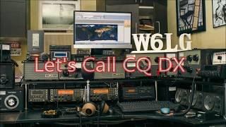 Ham Radio Basics--W6LG Calls CQ DX and a Very Good Friend Answers, DJ4OA
