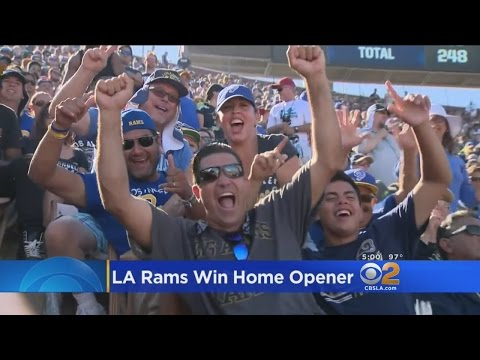Fans Celebrate The Re-Birth Of The Rams In Los Angeles With A Victory