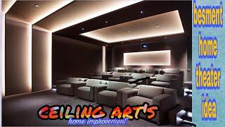 Basement home theater ceiling idea /ceiling art
