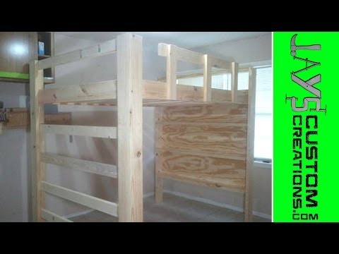 Full Size Loft Bed Video 1 - 039