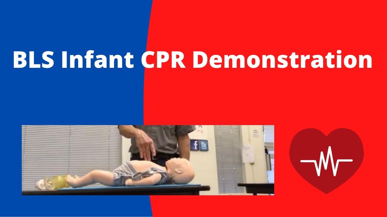 bls cpr infant demonstration