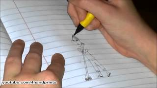 Speed Drawing:  How to Draw a Girl Sweeping (by 10yr old artist)
