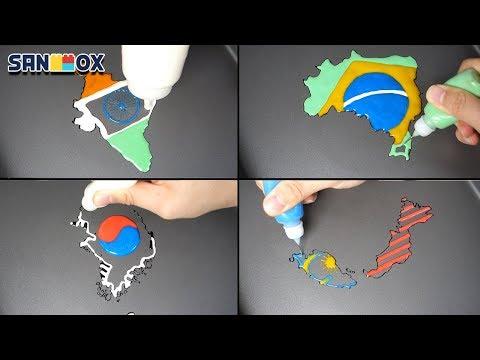 National Flag Map India Brazil Korea Malaysia Pancake Art