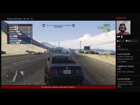 Gta5 vivo do PS4 de comando canal Fabiogamer 13 meta bora 1050 inscritos e 30 likes