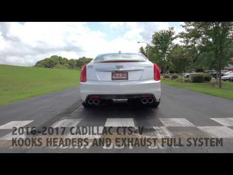 2016 2017 Cadillac CTS V with a full KOOKS HEADERS AND EXHAUST SYSTEM