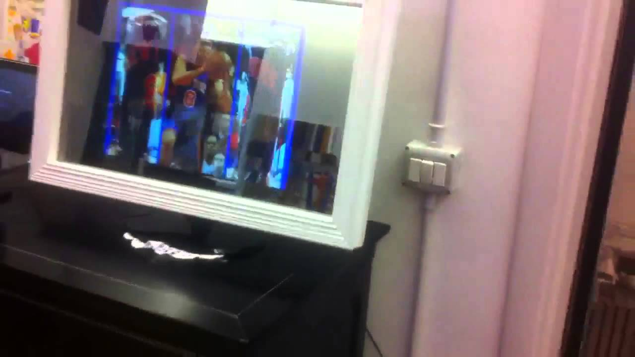 cornice specchio per mini tv led - YouTube