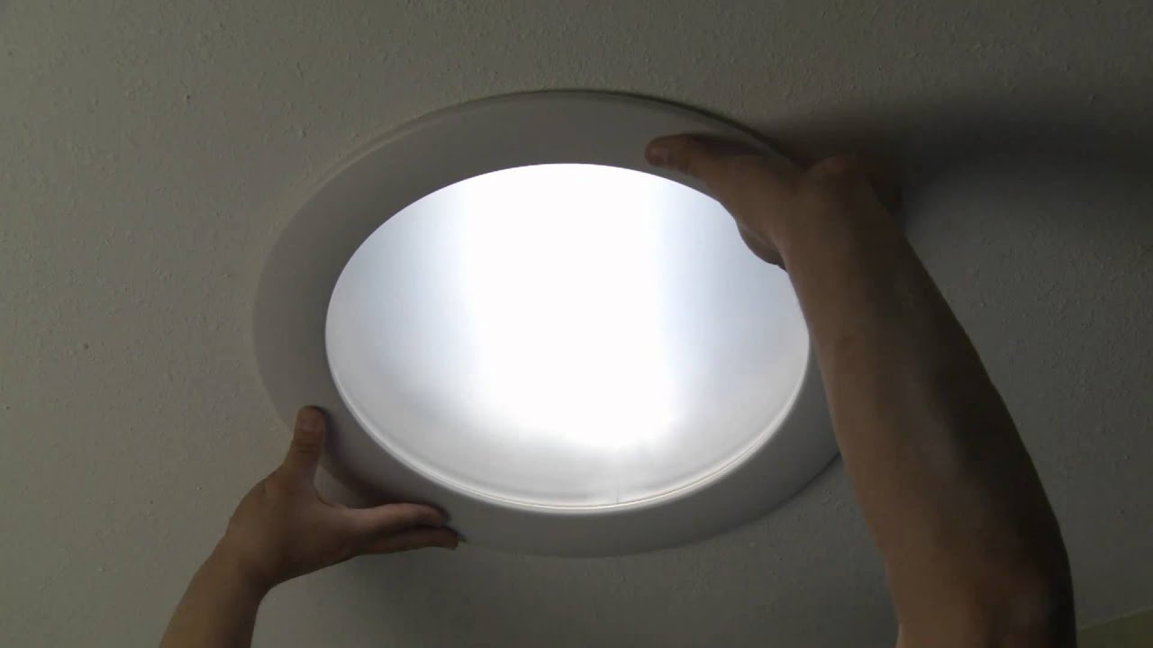 Nice Skylight Tube Installation   Installing The Diffuser Lens Assembly   YouTube