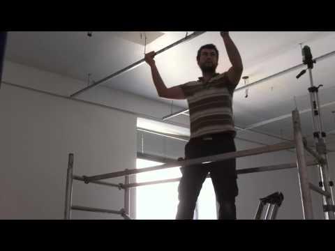 Plafond Suspendu En Dalles De 60 X 60 Youtube