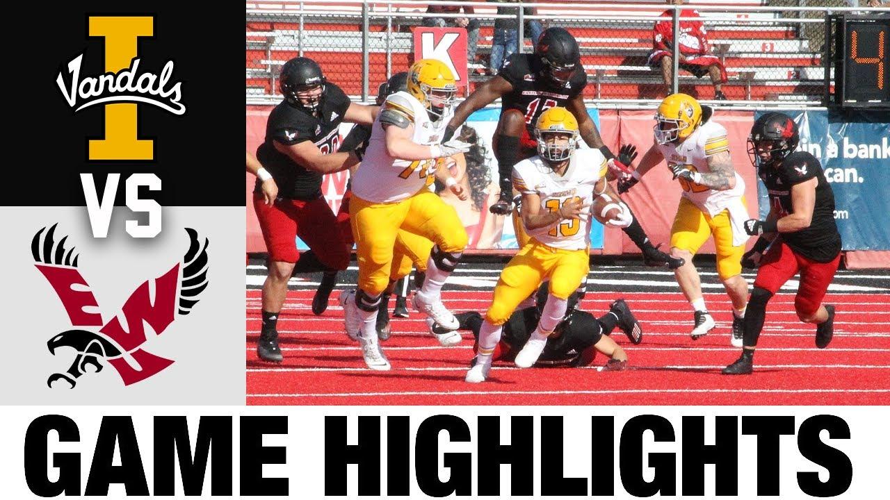Idaho vs #2 Eastern Washington   FCS Week 7   2021 College Football