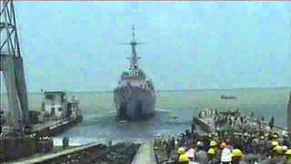 Launching ceremony of PNS ASLAT, fourth F-22P Frigate of Pakistan Navy
