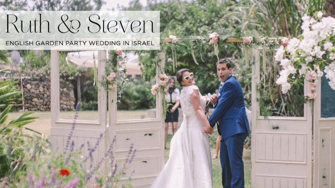 Ruth Steven An English Garden Party Jewish Wedding In Israel You