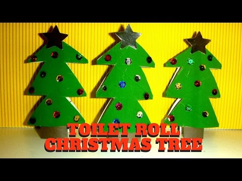 Christmas Craft - Toilet Paper Roll Christmas Tree - Toilet Paper Roll Craft
