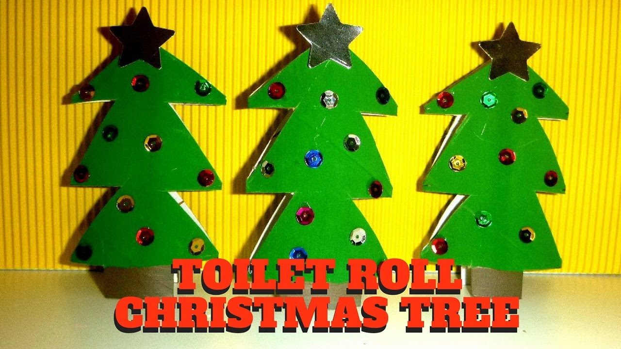 Christmas Craft - Toilet Paper Roll Christmas Tree - Toilet Paper ...